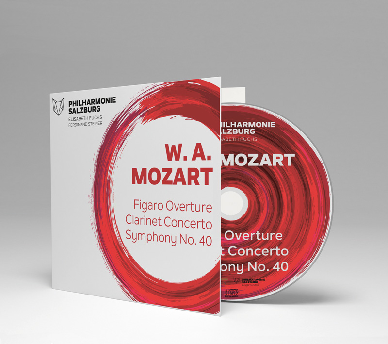 Mozart's overture from Figaro, clarinet concert and symphony number 40. Audio recording on CD of the Salzburg Philharmonic with Ferdinand Steiner
