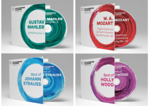 CD releases of the Salzburg Philharmonic: Mahler, Mozart, Best of Strauss, Best of Hollywood